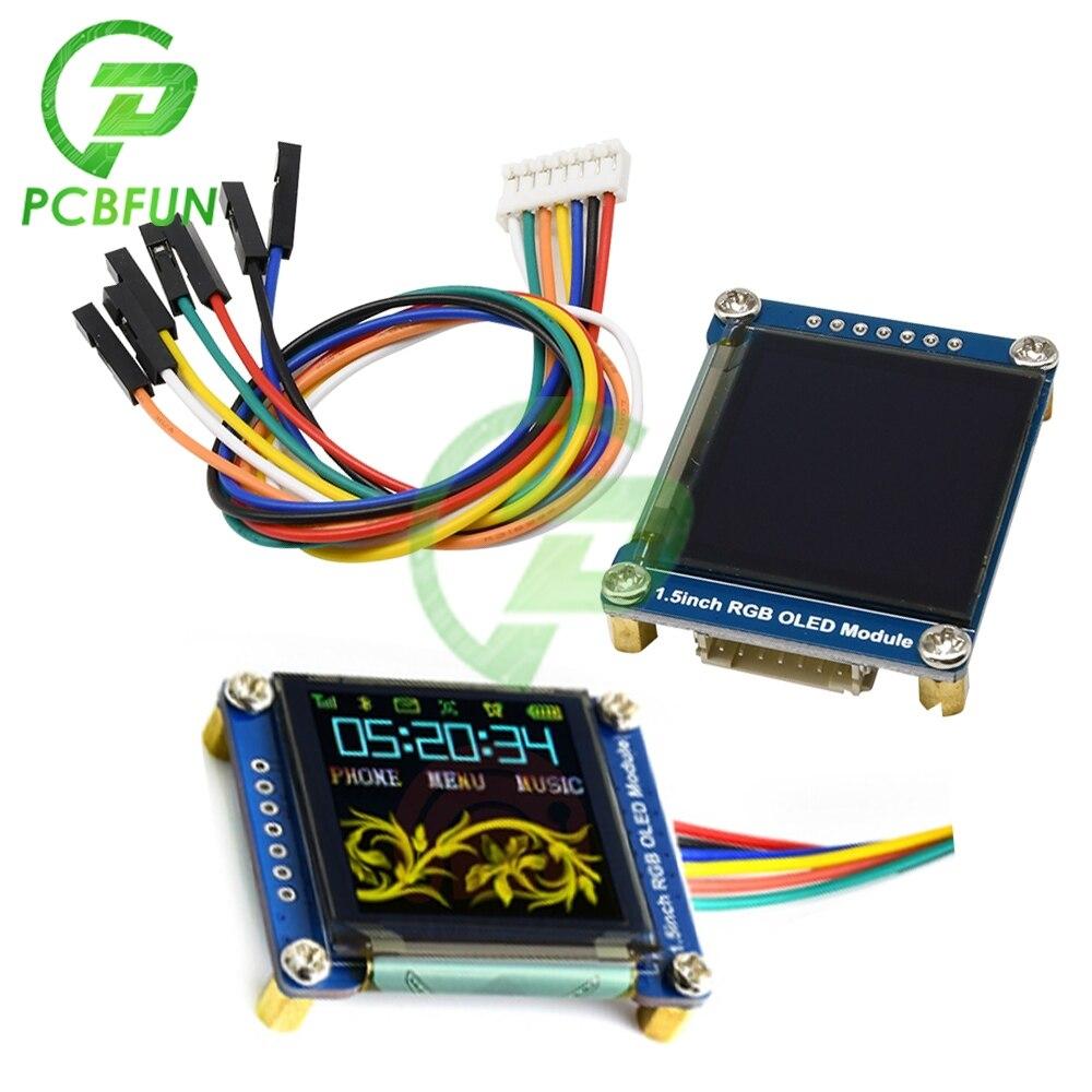 1,5 zoll 65K RGB OLED 4B Display Expansion Board Modul 128x128 SSD1351 SPI I2C IIC für Raspberry pi LCD Screen Bord 3,3 V-5V