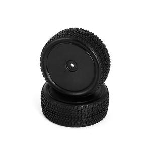 LC Racing L6252 All Terrain Buggy Pre-Mounted Front tires (Black 2pcs)