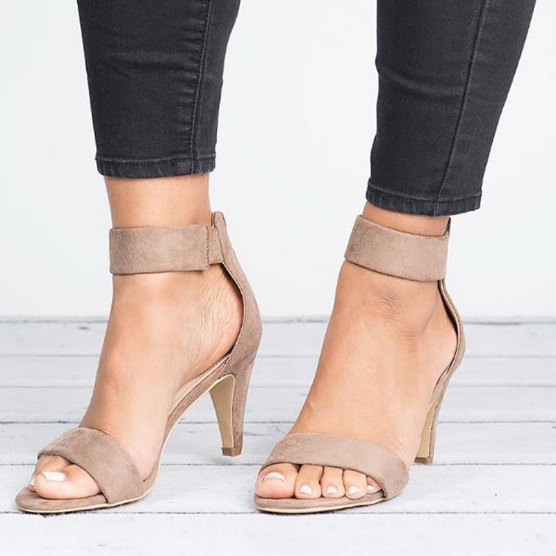 Zapatos de Punta abierta para mujer de Sandalias de tacón alto con...