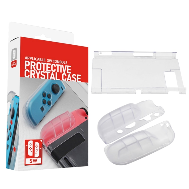 Transparent Shell Protective Case Cover Frame Clear Protector for Nintend Switch Game Console Accessories недорого