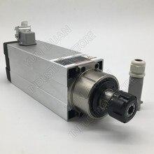 220v 3.5KW ER25 18000 tr/min 93*82mm moteur de broche refroidi par Air 4 roulements de haute précision pour le travail du bois de CNC