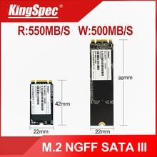 SSD KingSpec M2 SATA III NGFF M.2 2242 Disco Duro 128GB 256GB 512GB disco duro de 1TB m 2 unidades de estado sólido sdd para ordenador portátil netbook