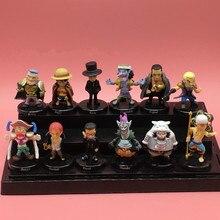 12 pièces décor de voiture une pièce Figure danime Shanks Luffy Lucci Crocodile Moria Buggy Enel Sabo figurine recueillir enfants jouet 5cm