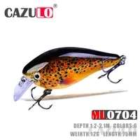floating crankbait fishing lure weights 12g 75mm baits 1 2 2 1m isca artificial pesca articulos wobblers pike fish tackle leurre