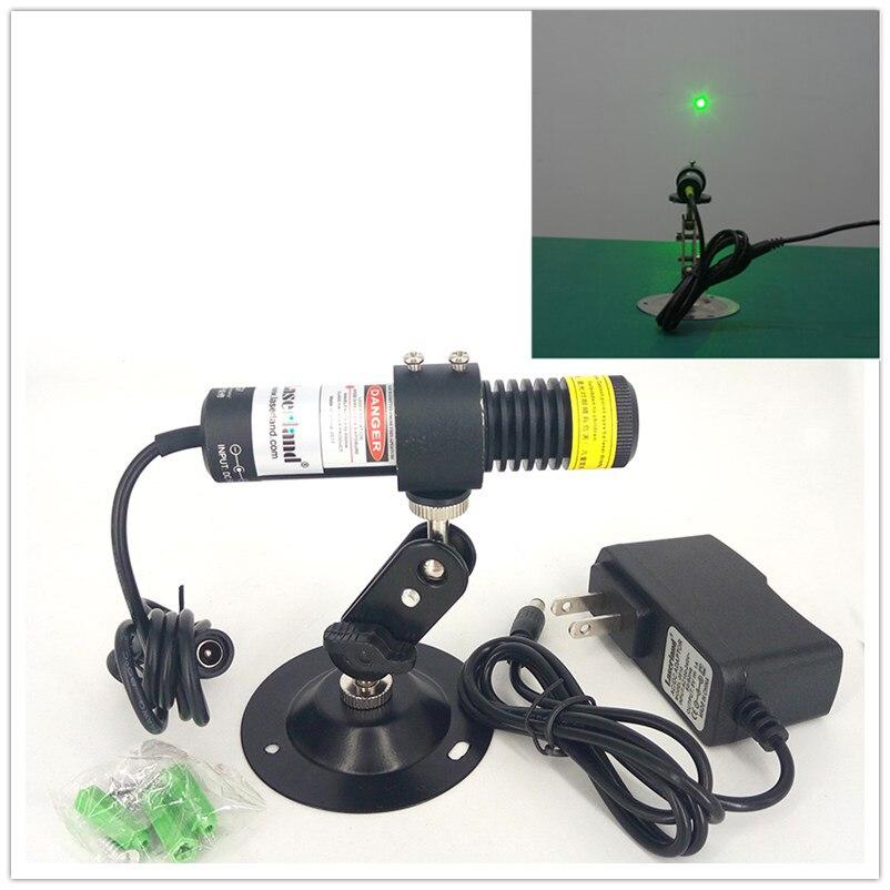Módulo verde do ponto do laser da anti-poeira 515nm 10mw 50mw da água-prova de 22*100mm para máquinas de gravura da soldadura da marcação