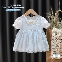 baby girl clothes summer dress lolita puff dress childrens dresses princess dress with puffed sleeves