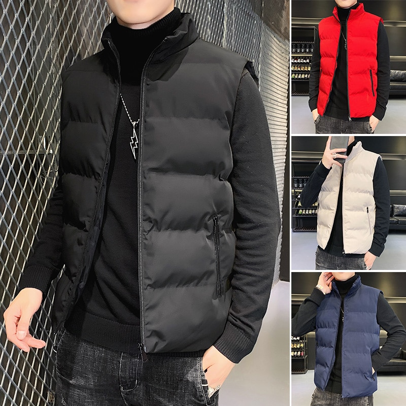 Мужская куртка, жилет без рукавов, осенние и зимние куртки, теплые пуховые повседневные куртки, мужской тонкий мягкий жилет, мужской жилет н...