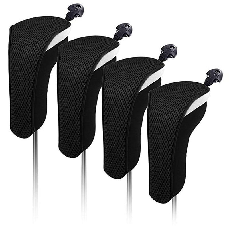 4X neopreno grueso híbrido funda de cabeza para Club de Golf Headcovers intercambiables etiquetas con números