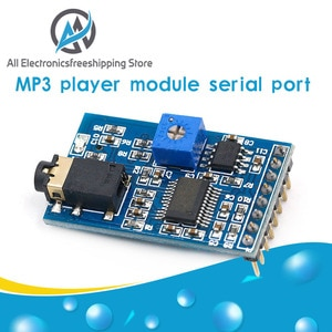 MP3 player module serial port on-demand decoder board card playback with 3w power amplifier voice broadcast M3A1T