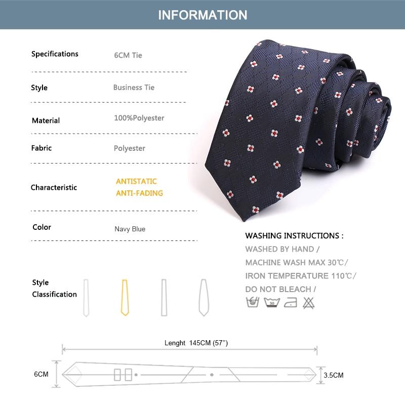 High Quality Men's Blue 6CM Tie Brand New Navy Blue Ties for Men Business Suit Work Neck Tie Fashion Formal Necktie Gift Box
