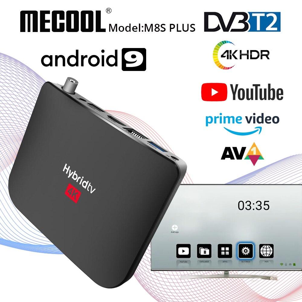 Mecool M8S زائد T2 الهجين SmartTV صندوق أندرويد 9.0 DVB-T2 استقبال الأقمار الصناعية Amlogic S905X2 رباعية النواة 2GB 16GB 4K PVR تسجيل