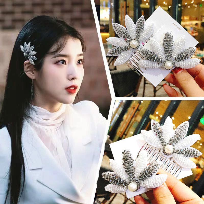 2019 quente del luna hotel mesmo grampo de cabelo feminino menina coreano doce moda grampo de cabelo grampo de cabelo pérola iu tv drama jóias presente