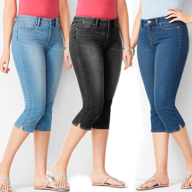 Womens Jeans Slim Slim Denim 7-point Pants Womens Pants Skinny Jeans Woman  Ripped Jeans for Women  Women Jeans