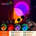 Лампа для проекции заката Suntech, USB Радужная лампа для заката, изменение цвета, управление через приложение, вращение на 180 градусов, лампа для проекции заката