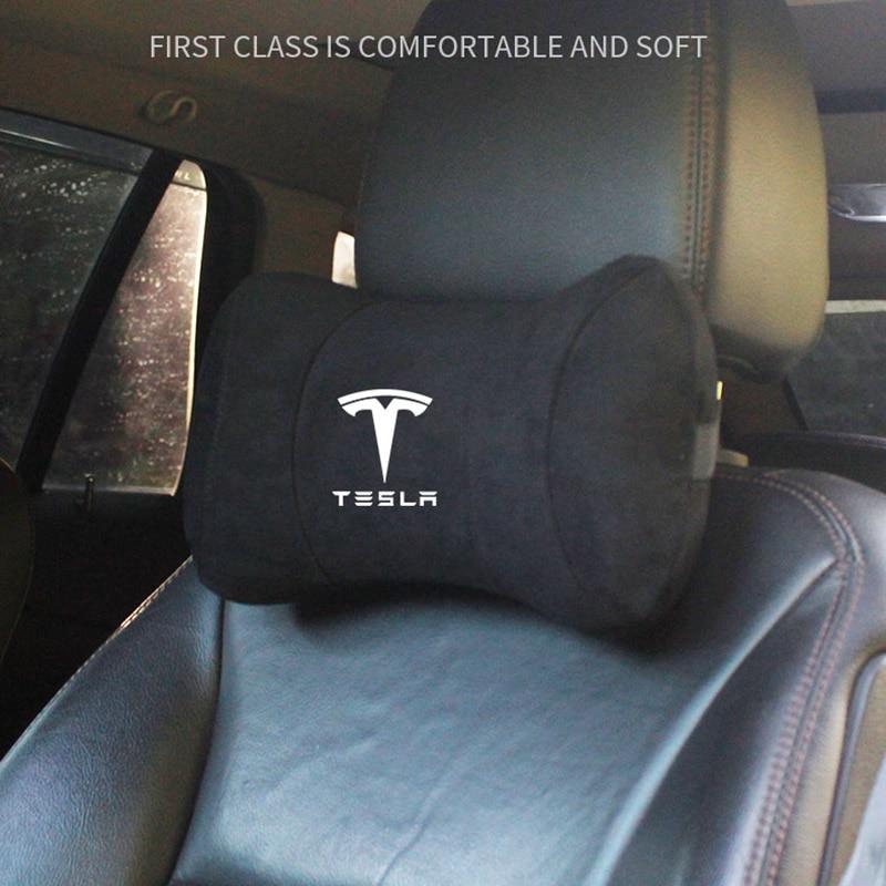 New Car Head Pillow Neck Support for Tesla Model 3 Model Y Model S Model X Styling Seat Headrest Car