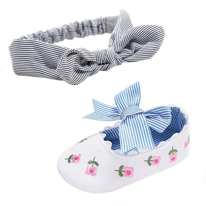 Bowknot Newborn boys Girls Shoes Cotton Baby Shoes Flower Print Anti-slip Sneaker Cute Baby Crib Sho