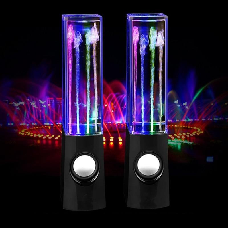 Alto-falante sem fios com led, alto-falante criativo de dança de água com som colorido