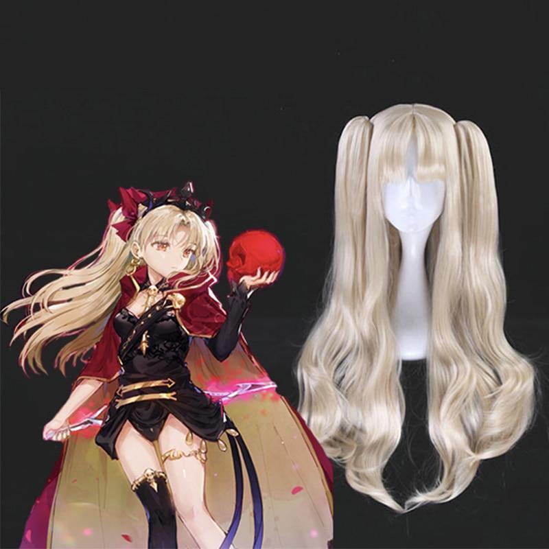 Juego Fate Grand Orde Cosplay pelucas Ereshkigal Cosplay peluca resistente al calor peluca sintética pelo Halloween fiesta Anime mujeres peluca
