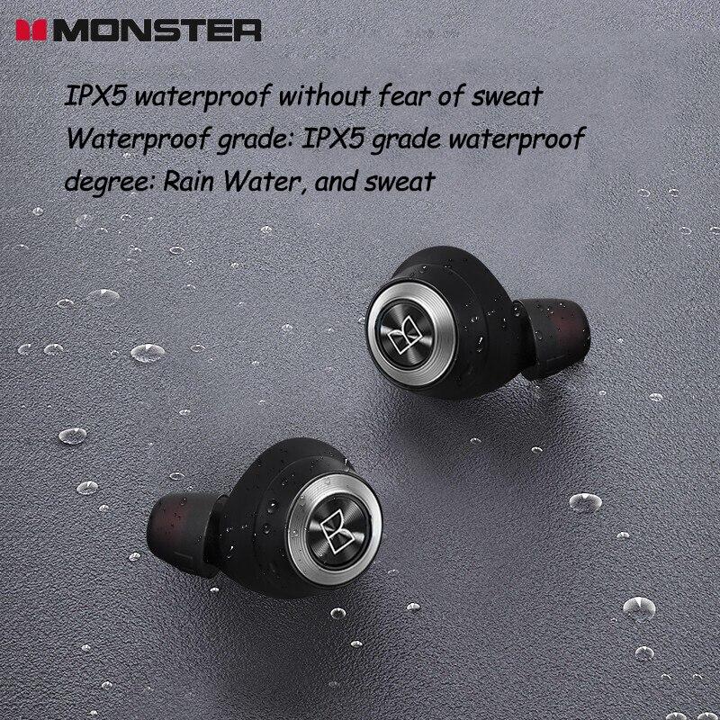 Fone de Ouvido sem Fio Vida da Bateria Redução de Ruído Fone de Ouvido Monster Verdadeiro Bluetooth In-ear Mini Esportes Correndo Longa Achive100 Tws