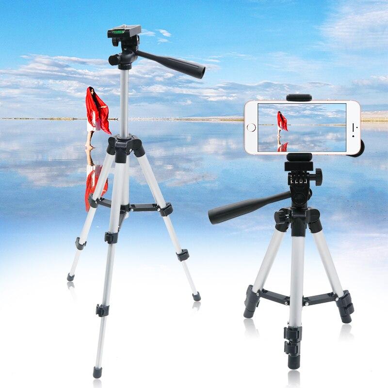 65CM trípode profesional plegable soporte de la Cámara tornillo 360 grados fluido cabeza trípode estabilizador trípode para teléfono