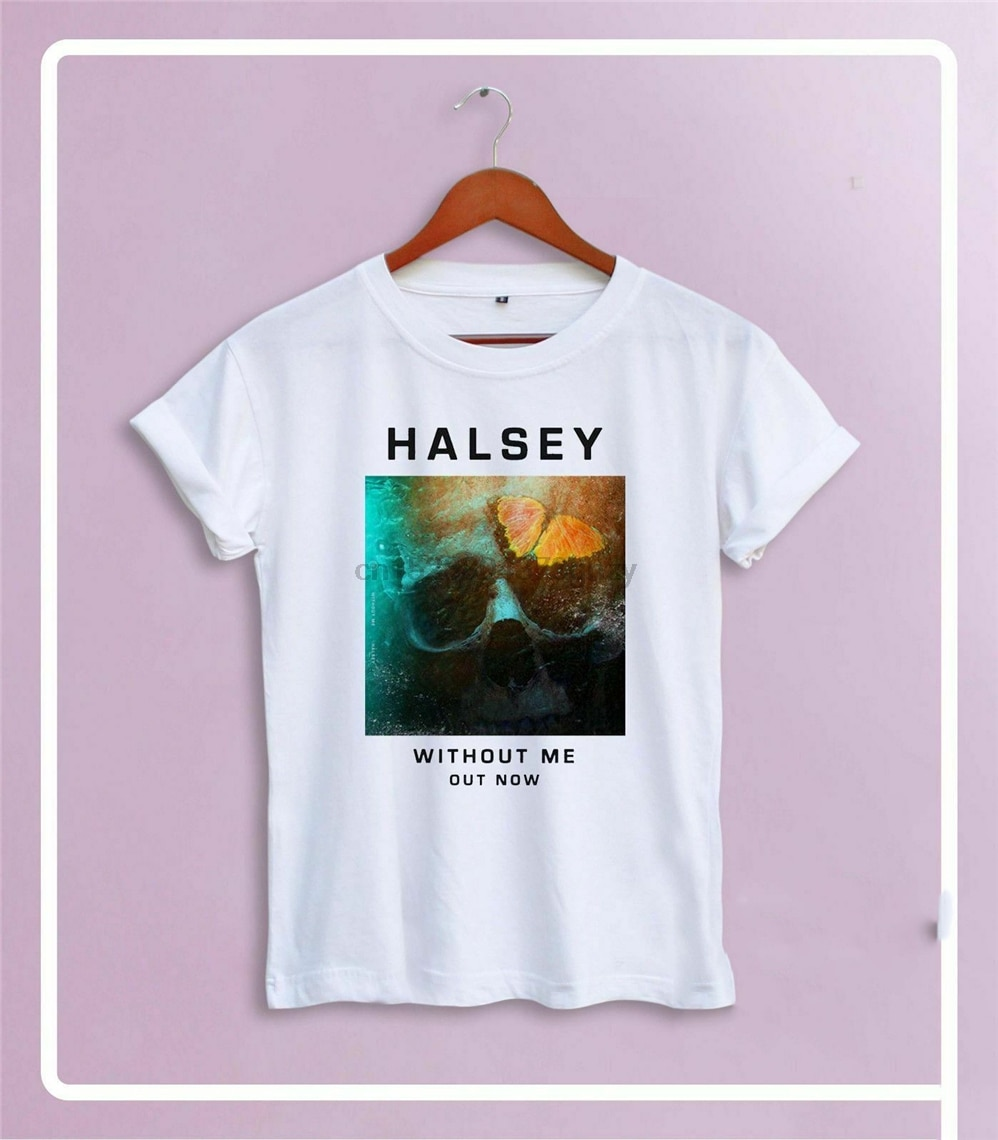Nueva camiseta Halsey sin Me S-Xxl algodón 3 colores Usa tamaño Em1 moda Cool camiseta