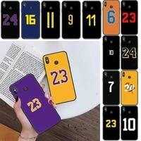 yndfcnb lucky number black tpu soft phone case for xiaomi redmi 4x 5plus 6a 7 7a 8 8a redmi note 4 5 7 8 9 note 8t 8pro 9pro