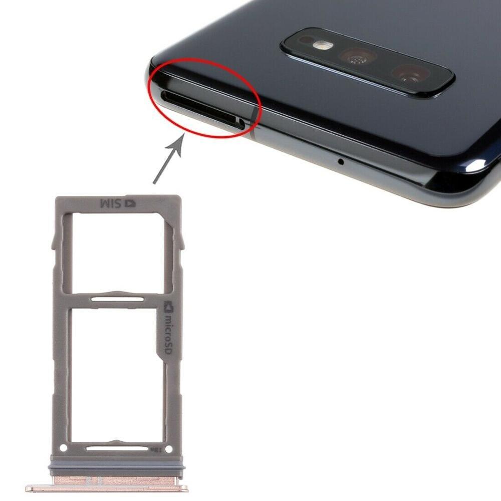Bandeja de tarjeta SIM + bandeja de tarjeta Micro SD para Samsung Galaxy S10 + / S10 / S10e
