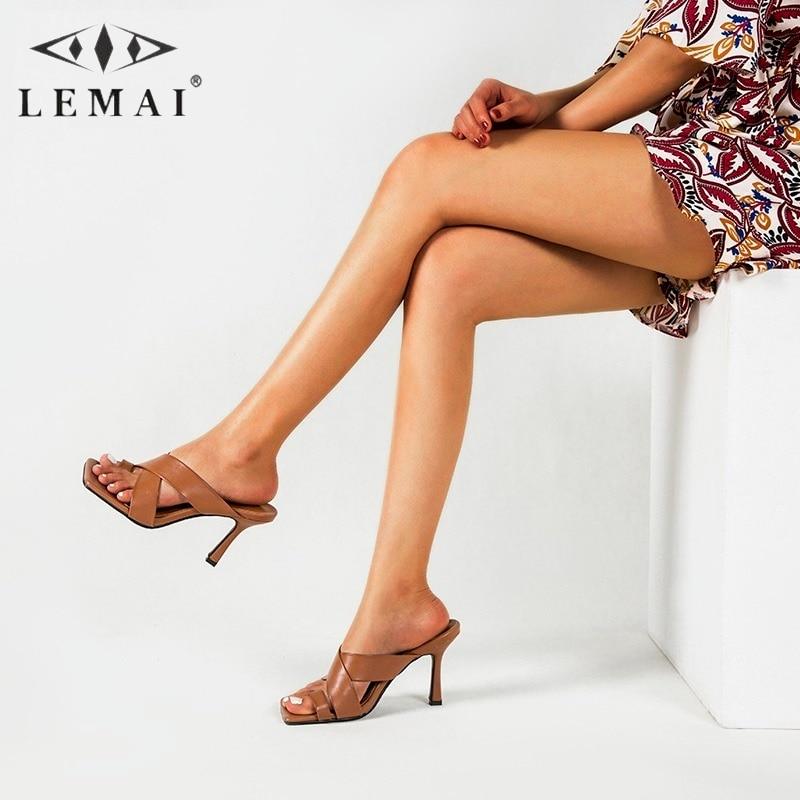 Flip Flops Stiletto High Heel Sandals Women 2021 Fashionable Sexy Open Toe Women's Shoes Cross Tape Outdoor Slippers