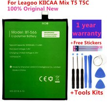 100% Original New BT-565 3000mAh Battery For Leagoo KIICAA Mix T5 T5C BT566 Mobile Phone Parts Bater