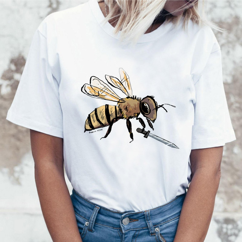 sketch tshirt fun printed t shirt t-shirt streetwear animal Women female love tee satan top artist animal design