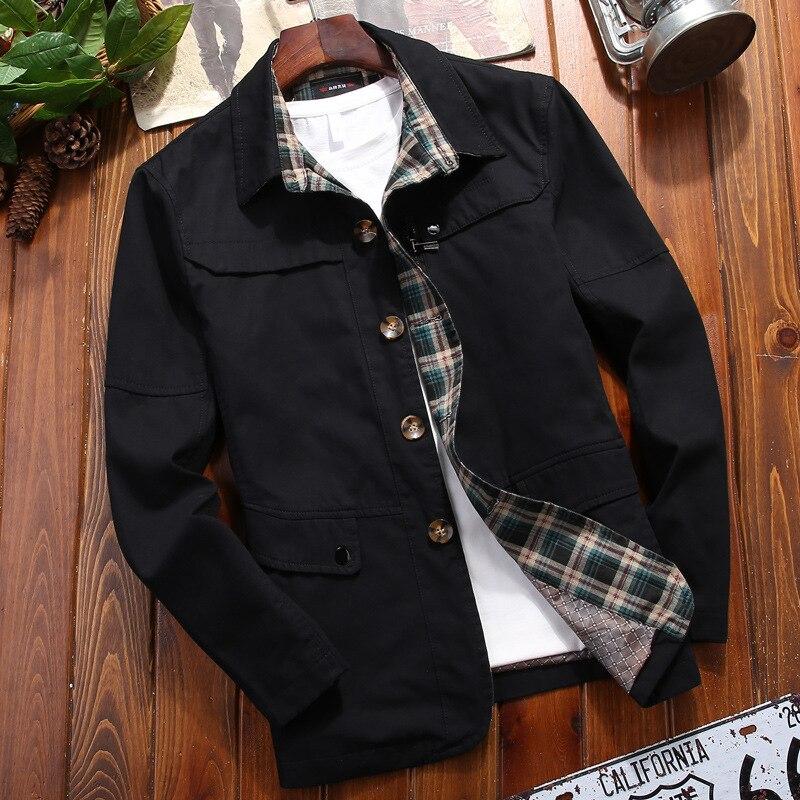 Новинка 2021, длинная куртка, Мужская одежда, осеннее пальто, тонкая куртка с лацканами, мужской длинный тренчкот, Модный повседневный мужской...