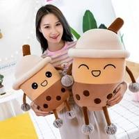 plush tea cup toy bubble tea pillow cushion cute plush stuffed soft apple strawberry milk tea kids gift