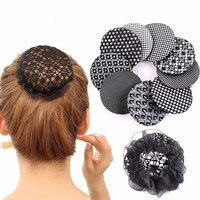 1pc new girls women bun cover snood hair net ballet dance skating crochet simple black hair styling accessory high quality hot