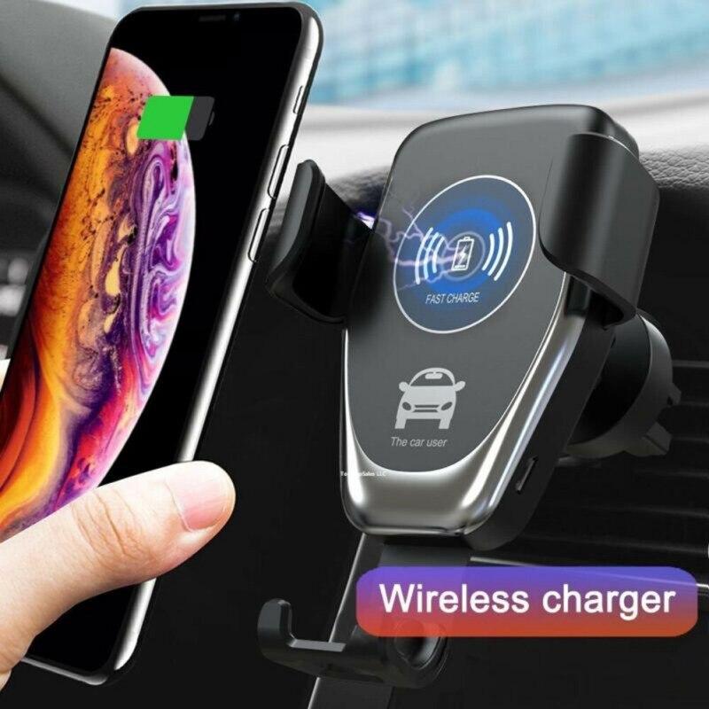 Support de chargeur sans fil Qi automatique   Chargeur rapide de voiture, pour téléphone 10W QI, gravité sans fil, support de téléphone portable