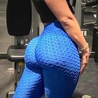 high waist leggings with pocket women seamless fitness legging thick booty push up leggins butt liftting slim stretch panties
