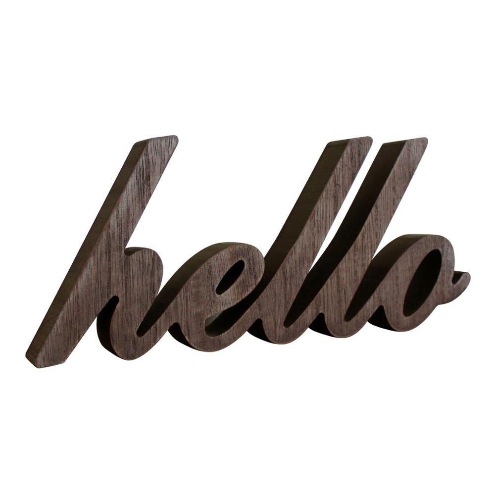 """Rustykalny, w stylu Vintage w trudnej sytuacji drewniane słowa znak wolnostojący """"witaj"""" blat/półka/ściana domu/dekoracja biurowa Art"""