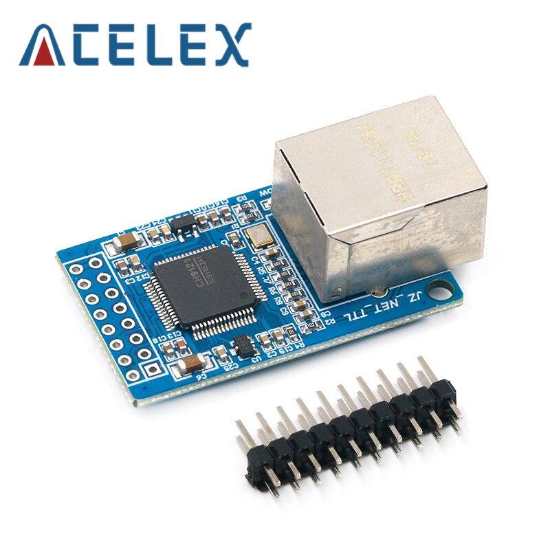 Porta de série ch9121 ao módulo de transmissão ttl do módulo de rede dos ethernet industrial do microcontrolador stm32