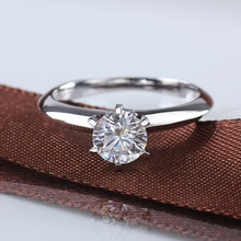 Starszuan Test pozytywny 925 srebro K pozłacane F moissanite pierścień 0.5/1ct wysokiej jakości pierścionek jubileuszowy dla kobiet