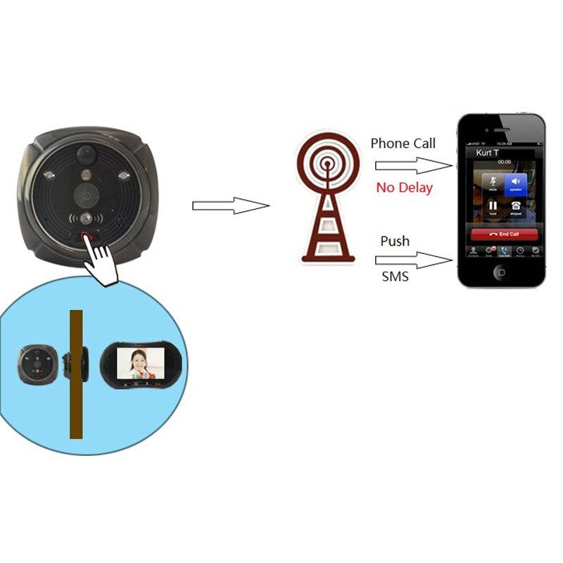 Timbre de puerta WiFi inalámbrico para IHOME3 Video llamada Puerta Cámara alarma mirilla timbre Digital PIR detección de movimiento Grado Gran Angular