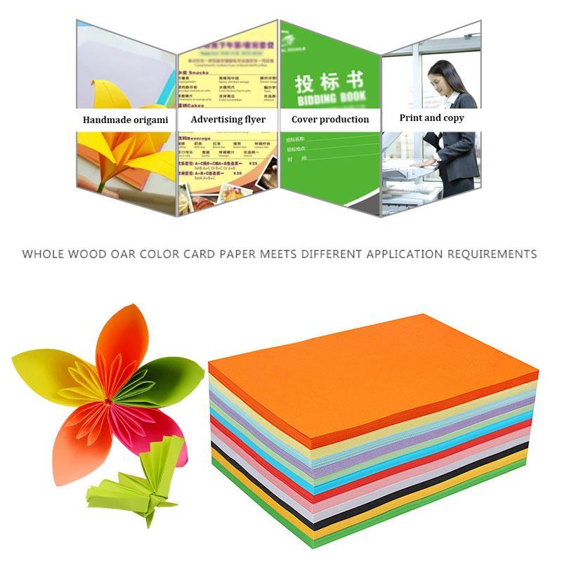 Tarjeta de papel coloreado, cartulina escolar para álbum de recortes, suministros de Oficina de Impresión 100 Uds. 160gsm A4 Premium Universal
