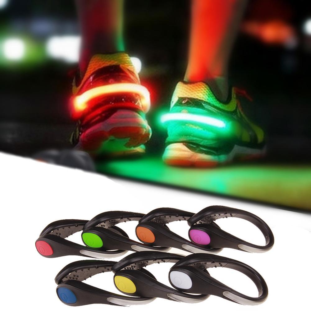 Zapatos LED Clip luz linterna de advertencia de seguridad correr de noche correr deportes ciclismo equipo suministros