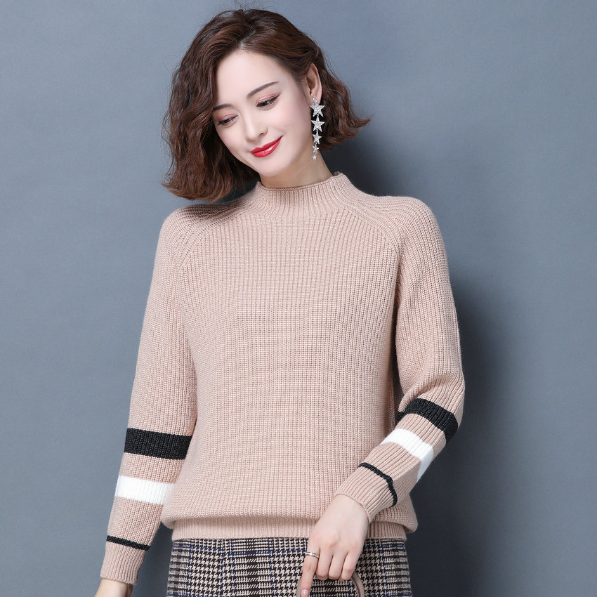Women Autumn Winter Pullover Sweater Blue Black Red Camel Jersey Crew Neck Knitted Tops Woman Warm Soft Jumper Textured Sweaters недорого