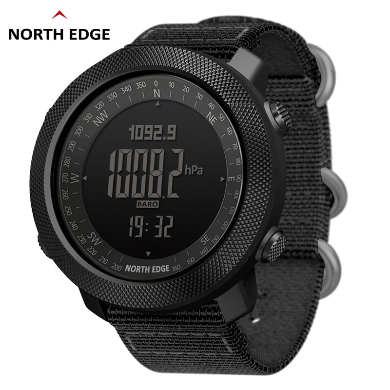NORTH EDGE Men's sport Digital watch Hours Running Swimming Military Army watches Altimeter Baromete