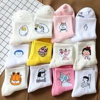summer ladies short socks korea japanese cotton flame harajuku socks girl cartoon cactus gun funny female socks