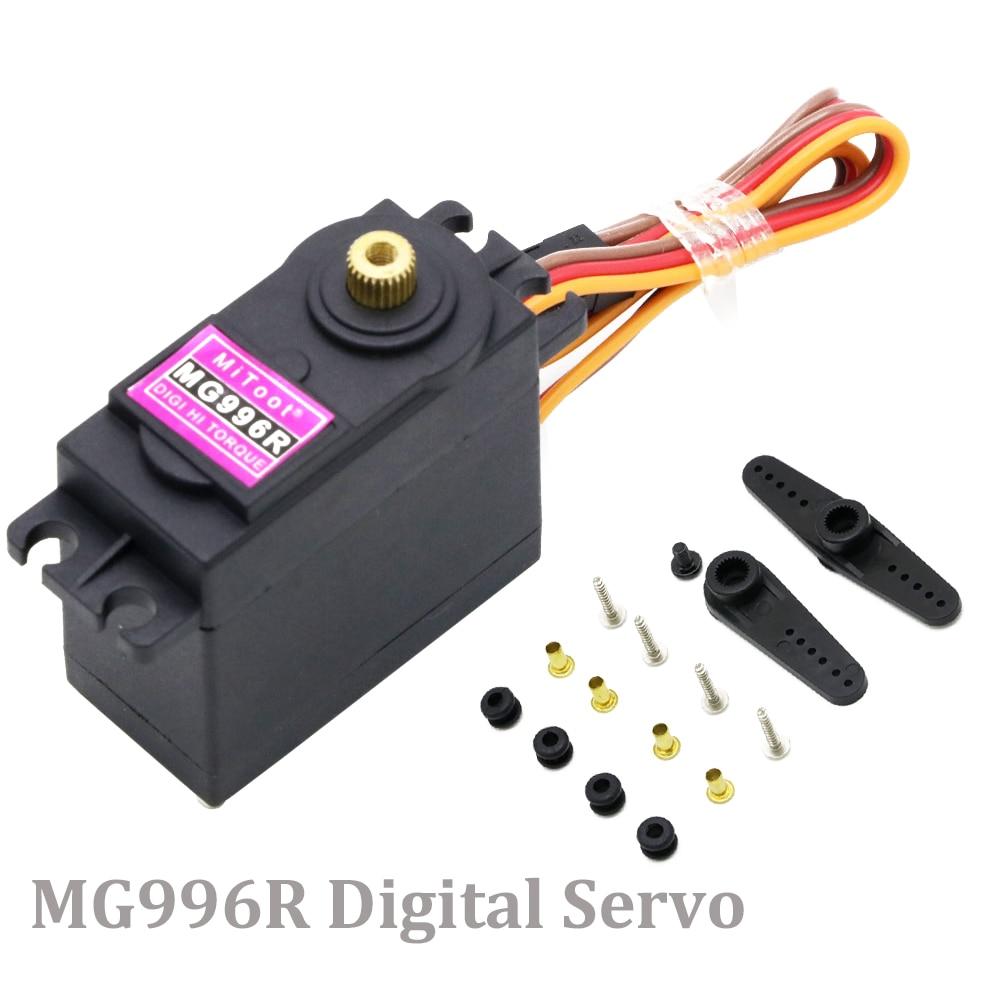 1 stücke Hohe Drehmoment MG996R 4,8-6,0 V Digital Servo Mit Metall Getriebe Für Futaba JR 1/8 1/10 RC auto Hubschrauber Roboter Arduino UNO DIY