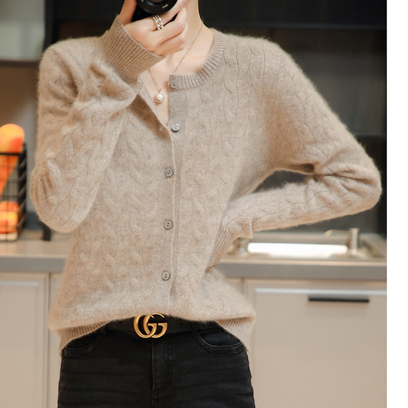 adohon 2021 Cardigans for woman summer sweaters knitted jumper High Quality Female knitwear O-neck cool comfortable enlarge