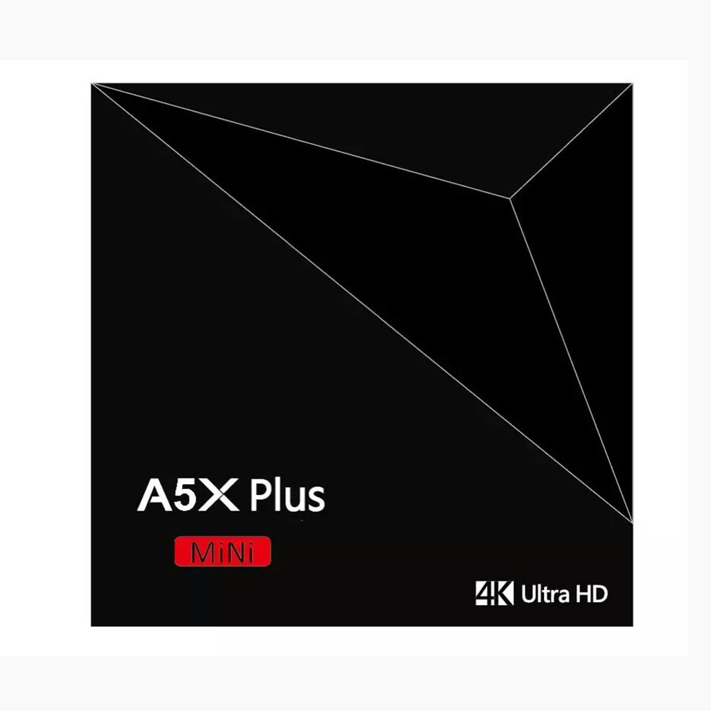 A5X Plus Smart Android 8,1 caja de TV RK3328 4K HDR10 USB3.0 2GB 16GB de doble banda Wifi LAN Bluetooth 4,0 HD reproductor de medios A53 inteligente.
