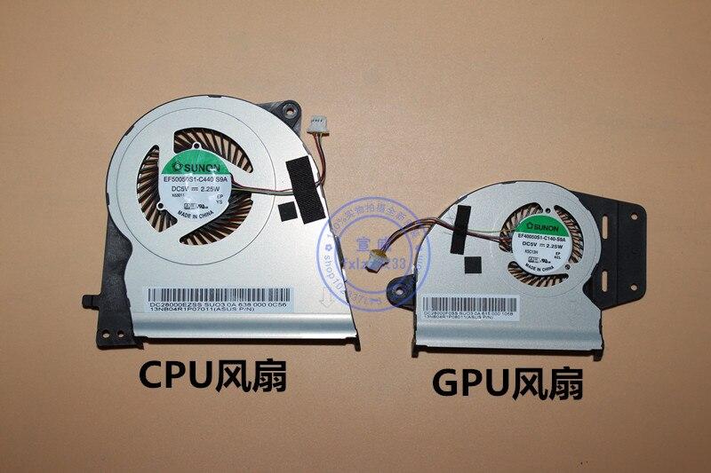 Nuevo CPU GPU ventilador para Asus UX303 UX303L UX303LN UX303LA UX303LB UX303UB EF40050S1-C140-S9A EF50050S1-C440-S9A radiador
