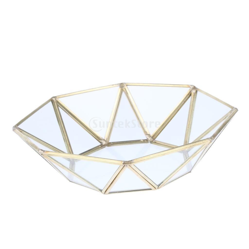 Tasty Gold Metal Glass Decorative Tray, Jewelry Tray, Cosmetic Organizer