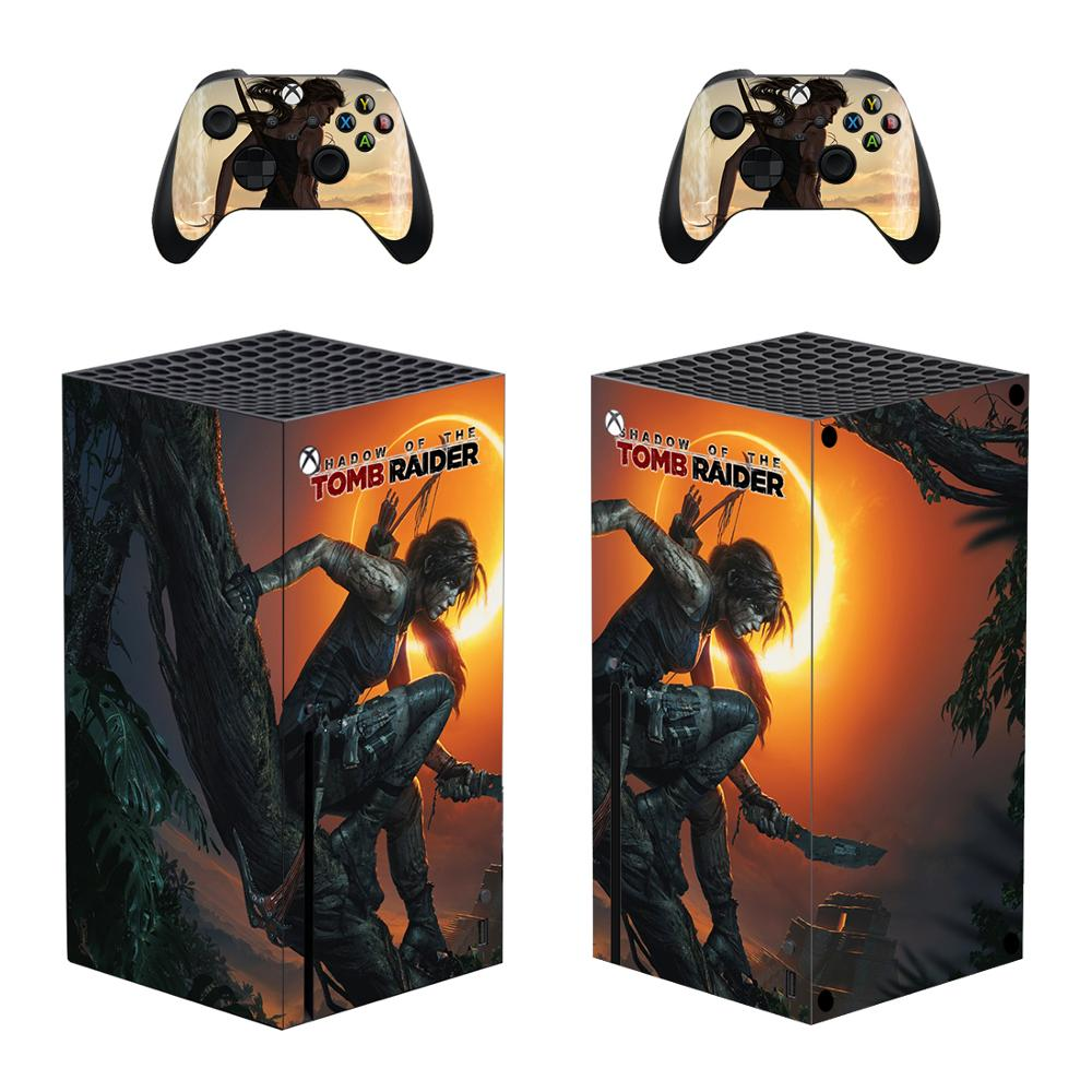 تومب رايدر غطاء عليه ملصق ل Xbox سلسلة X وحدة التحكم وأجهزة التحكم سلسلة X الجلد ملصق مائي الفينيل